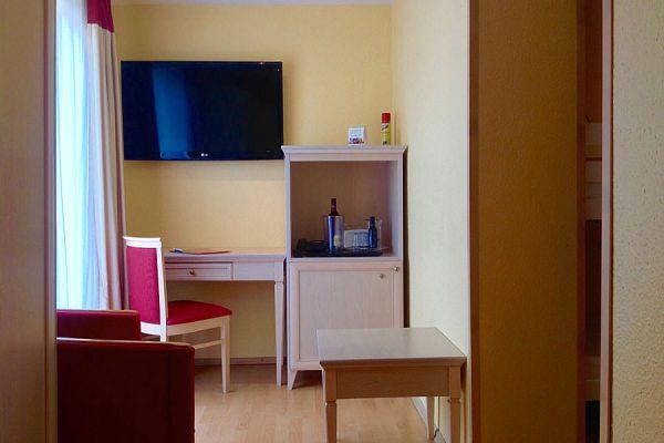 Ausstattung des Doppelzimmers vom Ostseehotel Baabe auf der Insel Rügen
