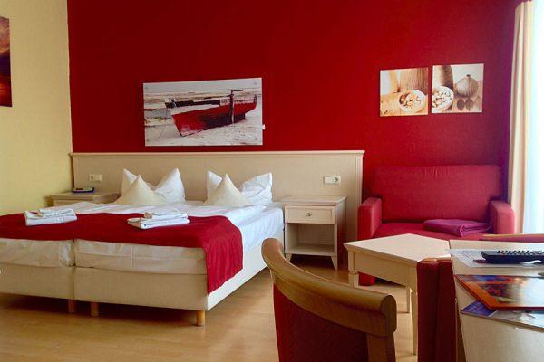 Doppelzimmer im Ostseehotel Baabe auf Rügen