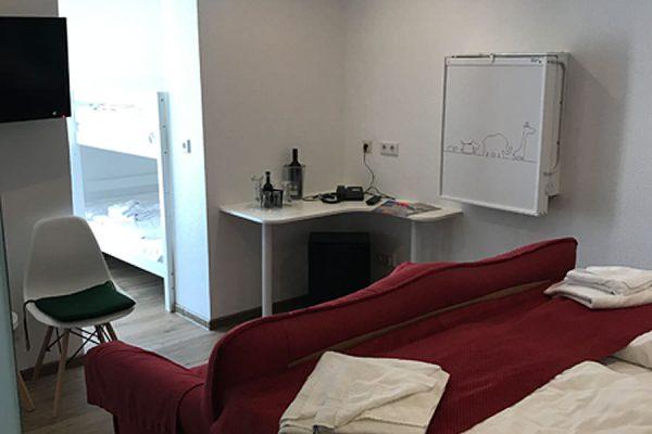 Familienzimmer Plus Ausstattung im Ostseehotel Baabe auf der Insel Rügen